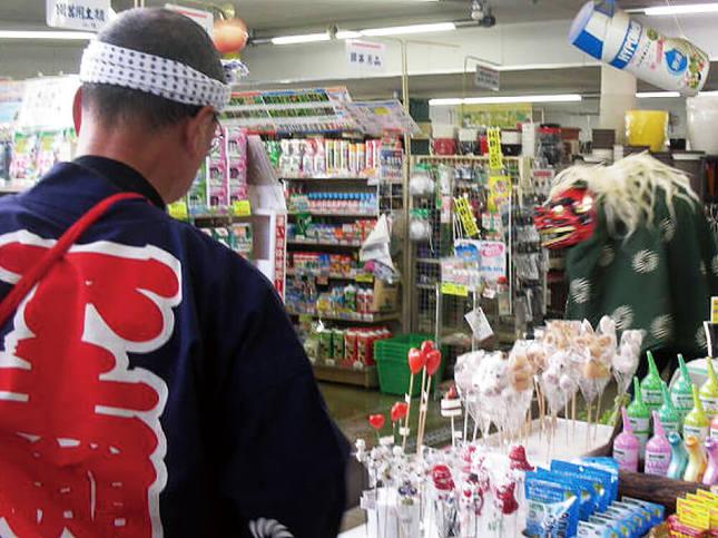 湘南台東口商店街にて、獅子舞が街をゆく!