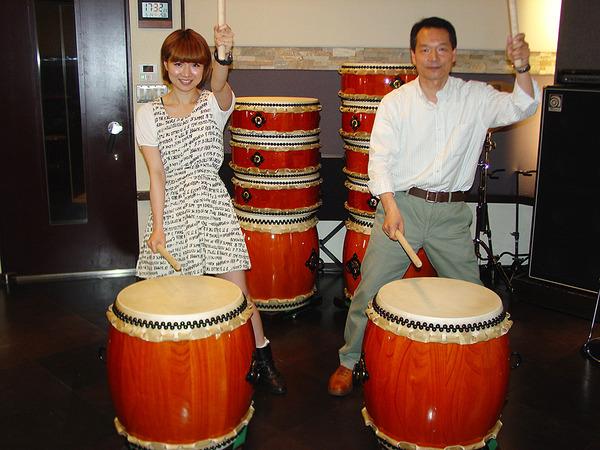 健康だけでなく癒やし効果ある伝統的な音楽の和太鼓教室の画像