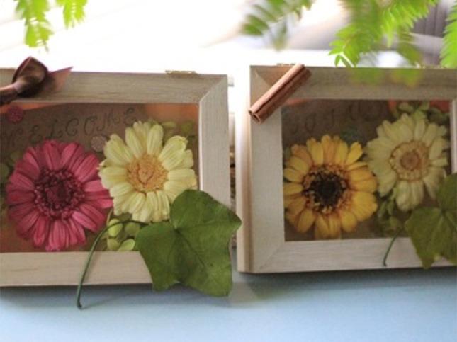 木製インテリアフレーム/秋の手すきはがきづくり