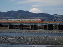 富士山とロマンスカーの絶景スポット