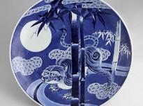 藍色浪漫(ろうまん)―伊万里染付・図変り大皿の世界―展