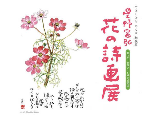 見た人を癒し、励ます星野富弘さんの詩画作品展の画像