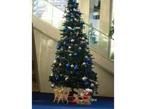 ブルーとシルバーの彩りが綺麗なクリスマスツリー