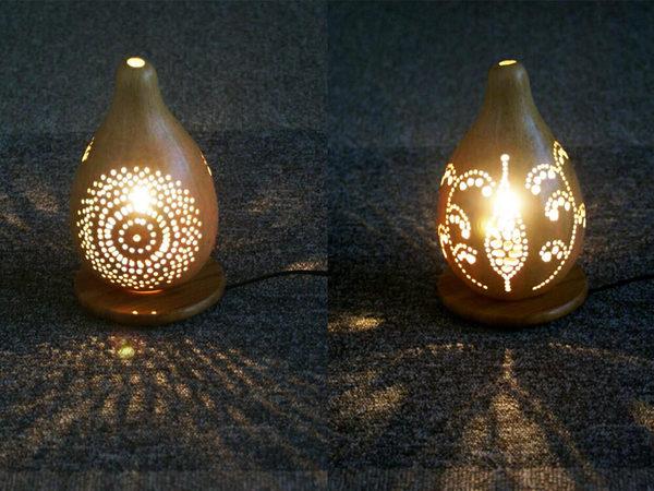 天然のひょうたんを使って幻想的な灯りを作りませんかの画像