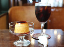 成城の老舗喫茶店で大人気の自家製プリンセット