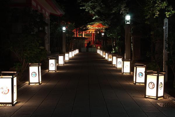 日本文化を感じる幻想的ライトアップの画像