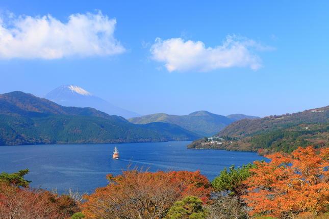恩賜箱根公園で紅葉と富士山を楽しもう!