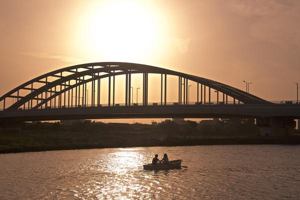 多摩川河川敷の秋の黄昏時は一押し