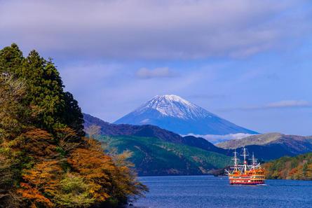 箱根・芦ノ湖で秋のクルージング!