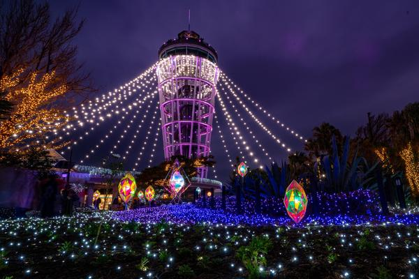 江の島シーキャンドル、今年もライトアップ!