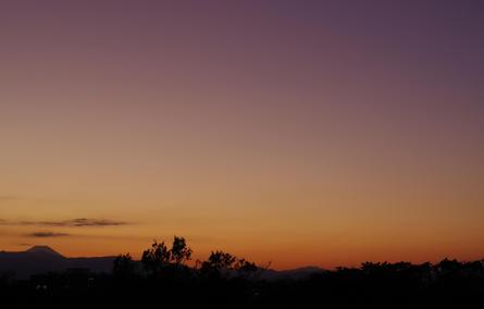 枡形山からの夕日
