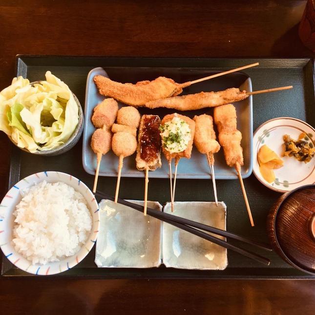 海老名の美味しい串揚げランチ