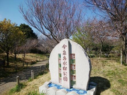 今泉名水桜公園へ