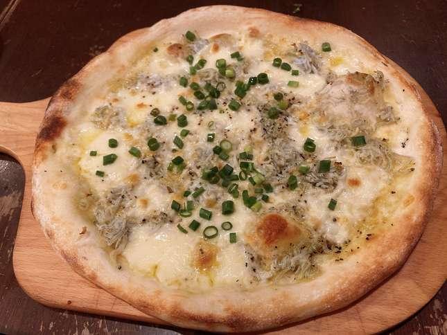 しらすのピッツァでお腹いっぱい